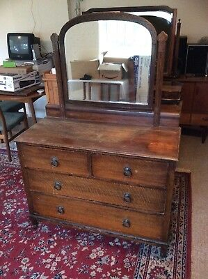 Antique Chest of Drawers with Mirror 1920s