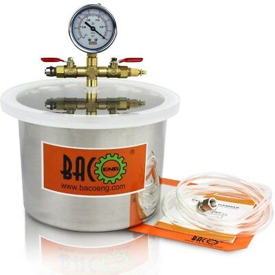 BACOENG 6.8L Stainless Steel Vacuum Chamber For Degassing Urethanes, Resins, (H