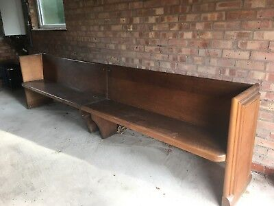 Solid Wood Church Pew Bench 10ft Long (in 2 pieces)