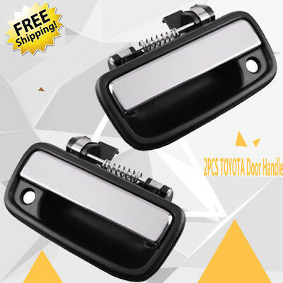 Front Outside Outer Exterior Chrome Left Right Door Handle PAIR for 95-04 Tacoma