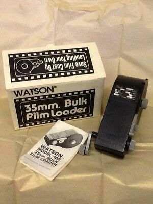watson 35mm bulk film loader with box and instructions