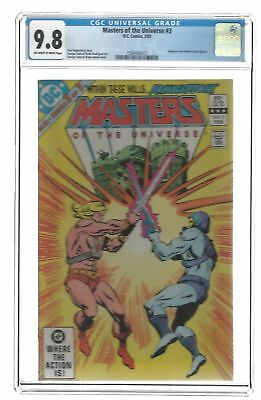 DC Comics  Masters of the Universe #3 - CGC 9.8 Off-White to White Pages 1983