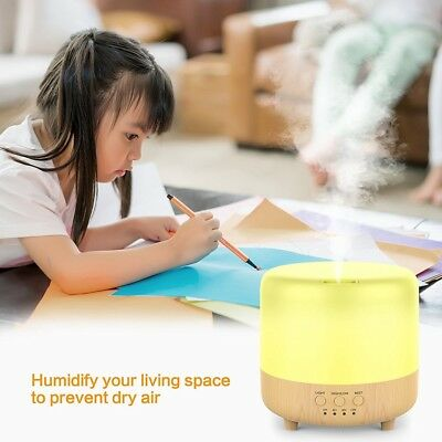 500ml Essential Oil Diffuser Humidifier Air Aromatherapy Mist 7 LED Light Colors