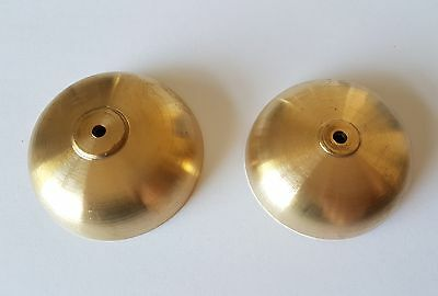 Tuned pair of Brass Bim Bam Chime Bells Dia 55 and 69mm Height 18 and 20mm