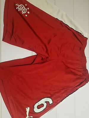 Rangers player issue away shorts size large no 6