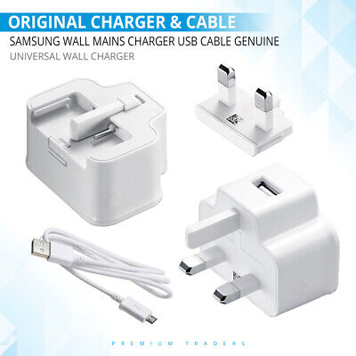 Original Samsung Wall Mains Charger Usb Cable Genuine For Samsung Galaxy Phones