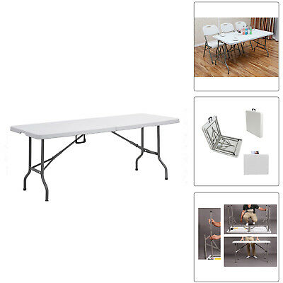 6FT Portable Folding Trestle Table Heavy Duty Outdoor Camping BBQ Party Table UK