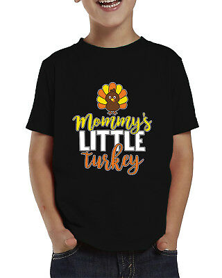 Mommy's Little Turkey Thanksgiving Funny Holiday Infant Toddler T-Shirt