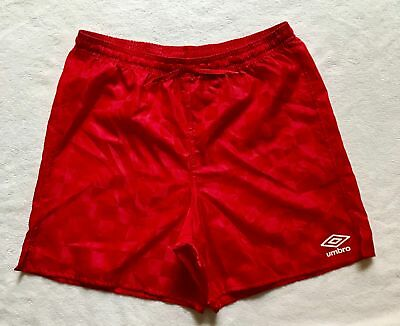 NEW Umbro Soccer Athletic Gym Shorts Red Check Youth Size XL