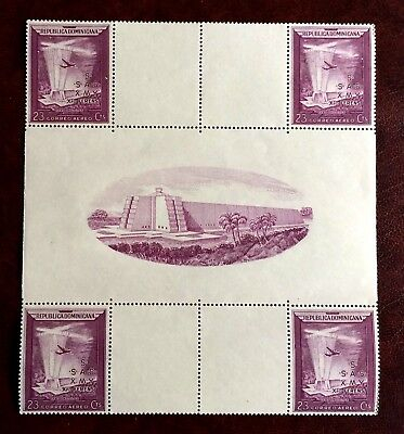 Dominican Republic 1952 Columbus 460 years - 4 mint stamps in block - 23 Cents