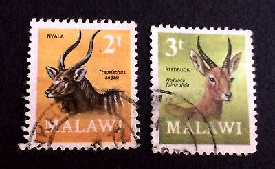 African animals- Malawi 2 nice used stamps