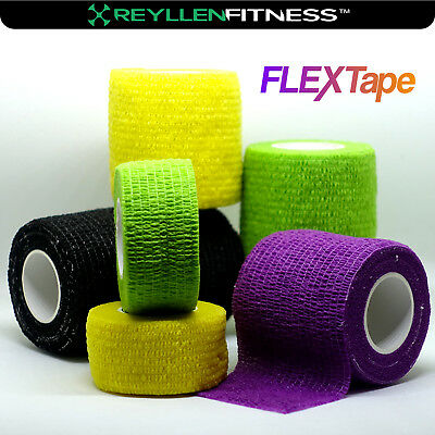 FLEXTape Cohesive Thumb Finger Sports Tape Athletic Weightlifting CrossFit Grip