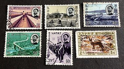 Ethiopia 1965 - Emperor Haile Selassies - 6 old used stamps