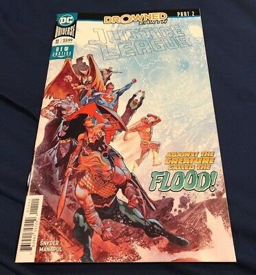 JUSTICE LEAGUE #11  2018 DC Comics drowned earth aquaman superman batman WOW