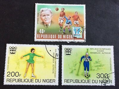 Niger - Sports - 3 nice used stamps