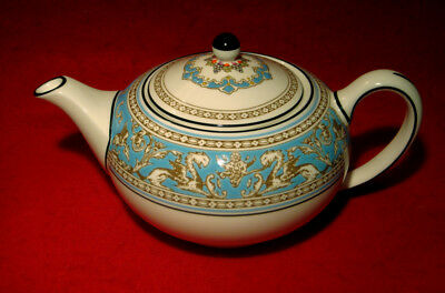 Wedgwood *florentine Turquoise* Small Teapot Made In England