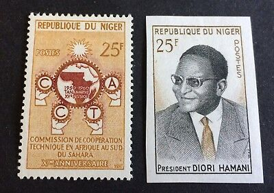 Niger - 2 nice mint hinged stamps