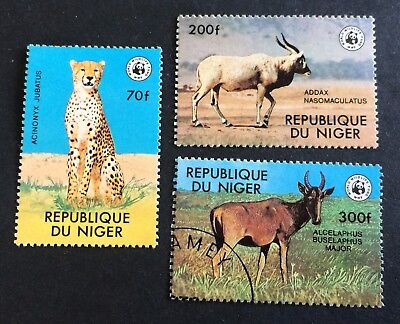 WWF - African animals - Niger - 3 nice stamps