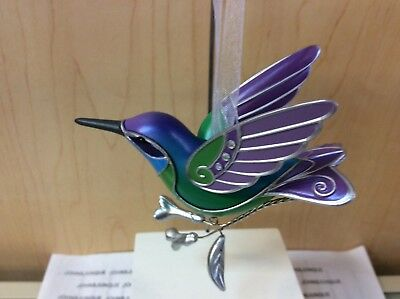 Hummingbird Surprise Hallmark Ornament 2018 New Opened For Inspection Green**