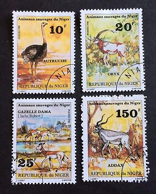 African Animals - Niger 1981 - 4 nice used stamps