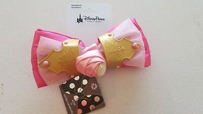 Disney Sleeping Beauty Aurora Interchangeable Minnie Swap Your Bow Ears Headband