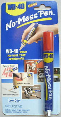 WD-40 No-Mess PEN RETAIL PAK NEW PENS REMOVE STICKERS LABELS QUICKLY EASILY