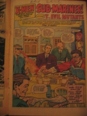 X-Men #6 Sub-Mariner Magneto Comic attached to wrong cover! 1964 Reader Copy