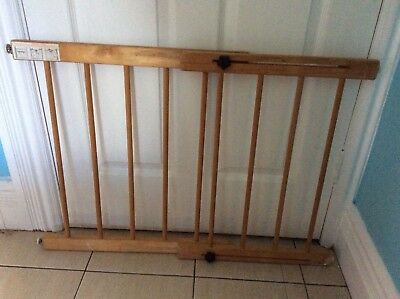 Wooden baby pet safety barrier gate. Pickup North Manly