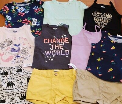 45aabccabbe NEW OLD NAVY Girls 12-18 MONTHS Summer Clothes Lot of 10 PIECES Tops ...