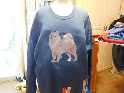 New Full Body Samoyed Embroidered Sweatshirt Add Name For Free