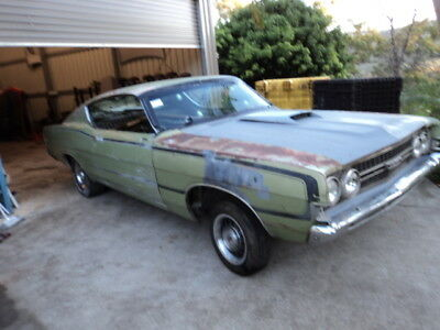 1968 FORD TORINO Gt Fastback 99% Rust Free Ca Running Driving Project V8 Xw  Xy