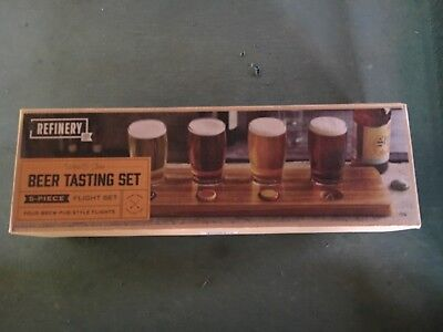 Refinery Beer Tasting 5-Piece Set Brew-Pub Style 7.5 Fl Oz Each New In Box