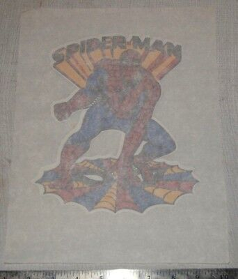 "Vintage 1970s Iron On Heat Transfer Spider-Man 7.5 x 9"" Spiderman"
