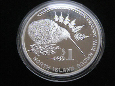 "Mds Neuseeland 1 Dollar 2006 Proof ""north Island Brown Kiwi"", Silber"