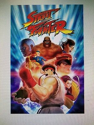 STREET FIGHTER 24x36 POSTER PLAY STATION SONY VIDEO GAMES RYU KEN BLANCA CHUNLEE