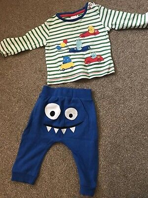 Baby Boys 6-9 Month Long Sleeve Top And Trousers Mini Club