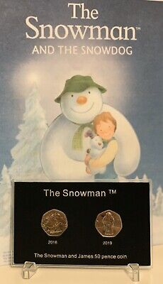 2018 UK The Snowman CERTIFIED BU 50p Coin Free Post
