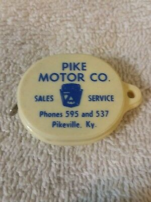 """Pike Motor Co. Pikeville, Ky.  Edsel - Newest Thing On Wheels -36"""" Tape Measure."""