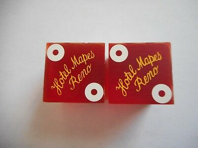 Hotel Mapes Reno Nevada Casino Dice--Free Shipping