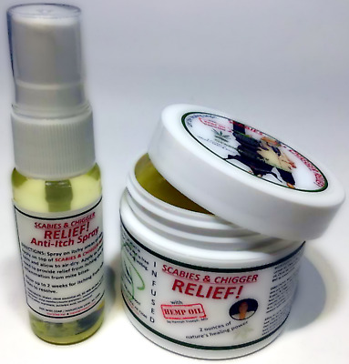 Scabies Treatment & Chiggers Treatment with HEMP OIL MD-Formulated #1 since 2015
