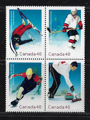 Canada Stamps — Block of 4 — 2002, Olympic Winter Games #1936-39 (1639a) — MNH