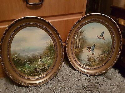 Antique Vintage Signed Oil Paintings Japanese?