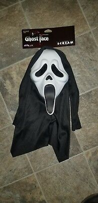 Scream White Ghost Face Mask Horror Halloween Costume GhostfaceCosplay Accessory