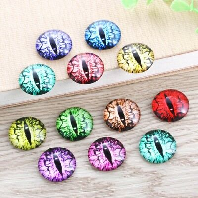 10 Underwater Abalone Cabochons Mixed Round Glass Cabochon Flat Back Ocean Oil