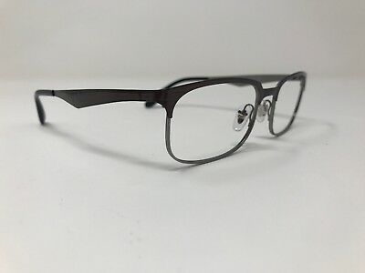 fbf5a7bad8 Authentic Ray Ban Eyeglasses RB 6361 2862 52-17-140 Metal Silver Brown