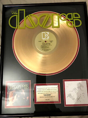 The Doors - Signed, Framed Gold Disc