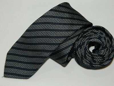 Men's Skinny Hugo Boss Grenadine Blue Silk Neck tie made in Italy