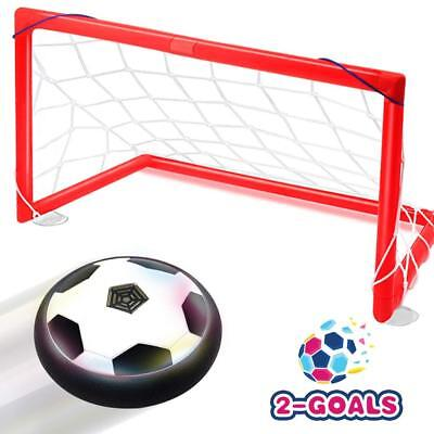 Kids Toys Hover Soccer Ball Set Christmas Gift with 2 Goals Football Disk Toy