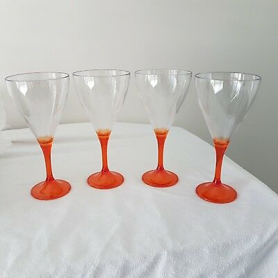 Tupperware Allegra Wine Glasses Set of 4 Brand New