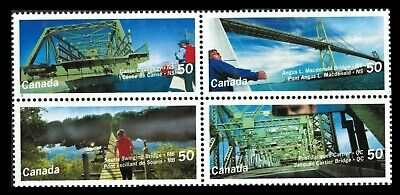 Canada Stamps — Block of 4 — Canadian Bridges #2100-2103 (2103a) — MNH